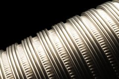 Flexible metallic aluminum vent tubing Royalty Free Stock Images