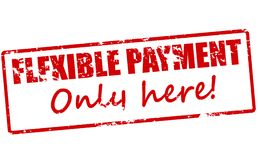 Flexible payment only here. Rubber stamp with text flexible payment only here inside,  illustration Royalty Free Stock Images
