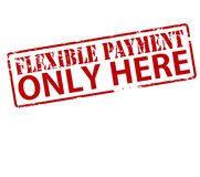 Flexible payment only here. Rubber stamp with text flexible payment only here inside,  illustration Stock Image