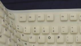 Flexible PC keyboard stock video footage
