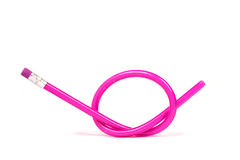 Flexible pink pencil Stock Photography