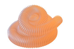 Flexible pipe ,Corrugated polyurethane pipe. Royalty Free Stock Image