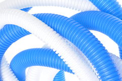 Flexible plastic corrugated pipes Royalty Free Stock Photo