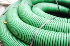 Flexible plastic tube green Royalty Free Stock Photography