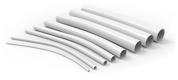 Flexible plastic tubing Stock Images