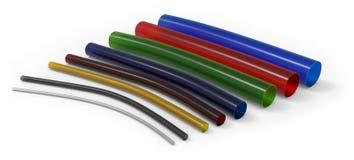 Flexible plastic tubing Stock Photo