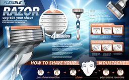 Flexible razor ad stock illustration