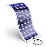 Flexible solar panel - 3D illustration Stock Photography