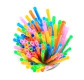 Flexible straws Royalty Free Stock Photo