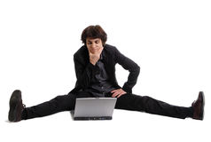 Flexible thinking business woman Royalty Free Stock Image