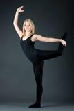 Flexible woman Royalty Free Stock Image