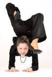 Flexible Woman Stock Photo
