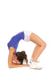 Flexible woman stretching Royalty Free Stock Images
