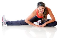 Flexible woman stretching Stock Images