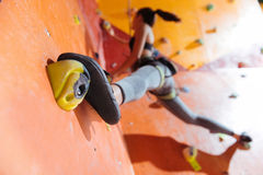 Free Flexible Woman Training Hard In Climbing Gym Stock Images - 81892074