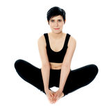 Flexible yoga woman Stock Photography
