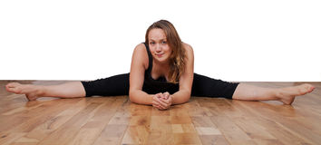 Flexible young woman Stock Photo