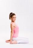 Flexible young yoga girl. Stock Images