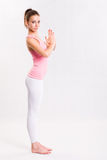 Flexible young yoga girl. Stock Photos