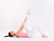 Flexible young yoga girl. Stock Photography