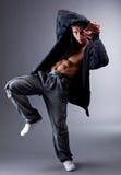 Flexibler Ausführender des modernen Tanzes lizenzfreie stockfotografie