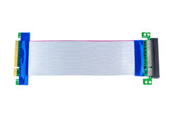 Flexibles PCI-E x8 PCI-E x8 zum Aufbruch-Kartenisolat auf Weiß Lizenzfreie Stockbilder