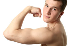 Flexing Biceps Royalty Free Stock Photos