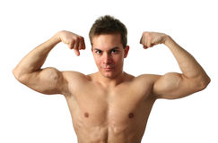 Flexing Biceps Royalty Free Stock Photo