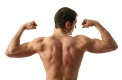 Flexing Biceps stock photos