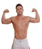Flexing man Royalty Free Stock Photography