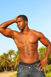flexing man muscular Στοκ εικόνα με δικαίωμα ελεύθερης χρήσης