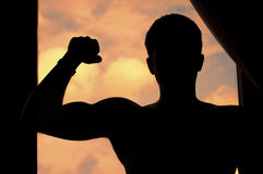 Flexing muscles Royalty Free Stock Photo