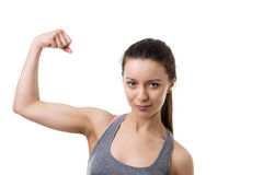 Flexing muscles Stock Image