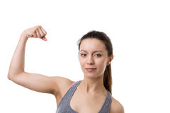 Flexing muscles Stock Photography