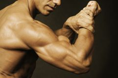 Flexing some muscle Stock Photo