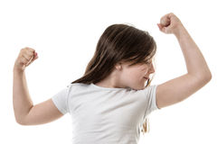 Flexing your muscles Royalty Free Stock Photo