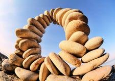 Flexure av stenar Arkivfoto