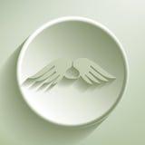 Flügel mit Herzen Stockbilder