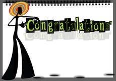Félicitations faites main Images stock