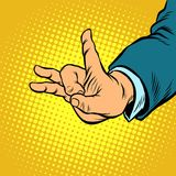 Flick gesture fingers. Pop art retro vector illustration vintage kitsch drawing Stock Images