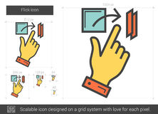 Flick line icon. Royalty Free Stock Photography