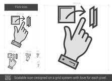 Flick line icon. Royalty Free Stock Images