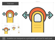 Flick line icon. Stock Images