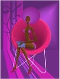 flicka 003 vektor illustrationer
