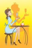 Flicka royaltyfri illustrationer