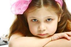 flicka 5 lilla gammala år Arkivfoton