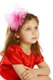 flicka 5 lilla gammala år Arkivbild