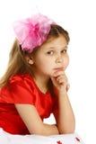 flicka 5 lilla gammala år Royaltyfri Bild