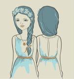 Flicka. Astrologiskt tecken Arkivfoton