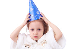 Flicka av det nya året Royaltyfri Fotografi